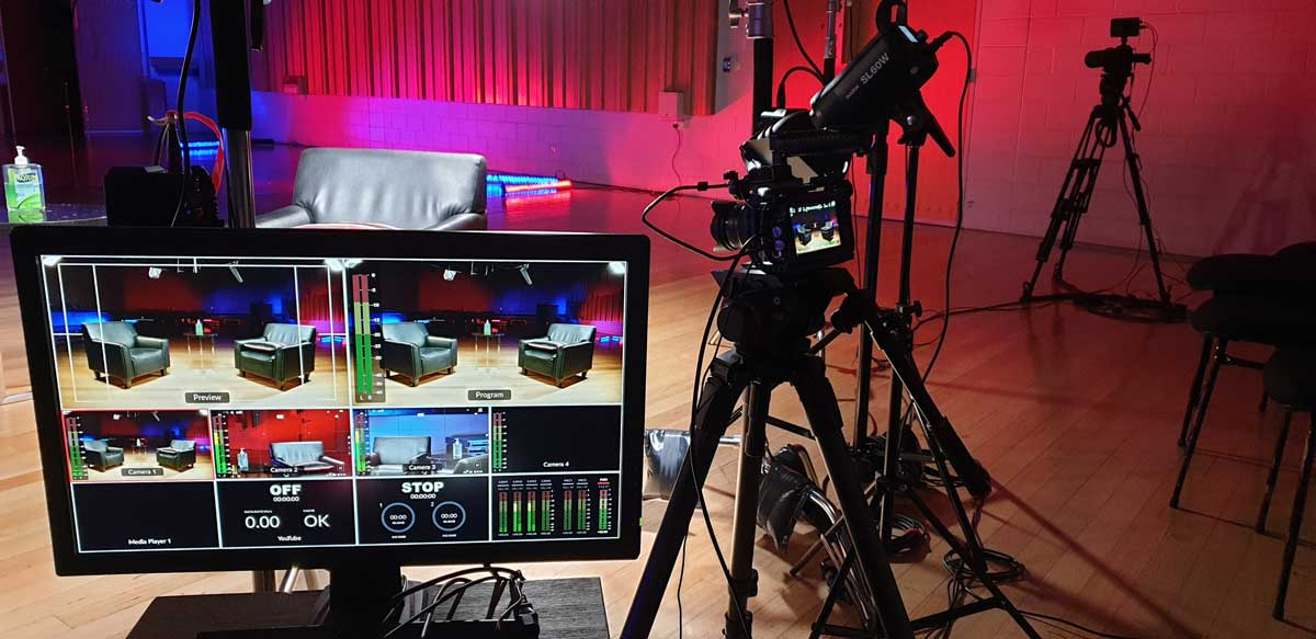 behind the scenese image of TSO Daily Dose studio set-up