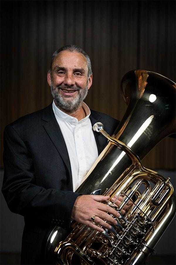 TSO brass player Tim Jones (tuba)